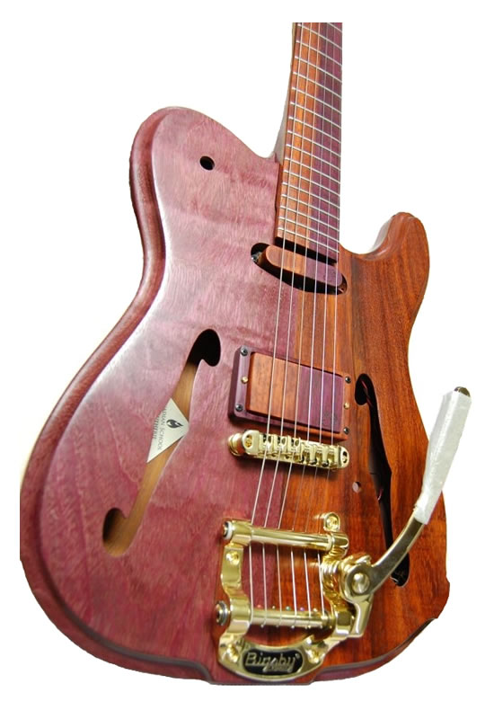 """Master Luthier George Rizsanyi's Tone Missile """"Puzzle"""" Guitar"""